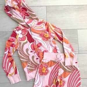GAP KIDS Pink Paisley Terry Cloth Hoodie & Shorts